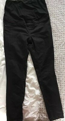 New Look Black Maternity Jeggings Size 12, Over The Bump Waistband
