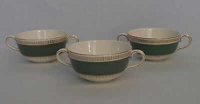 3 x Crown Ducal Double Handed Soup Bowls (CB1)