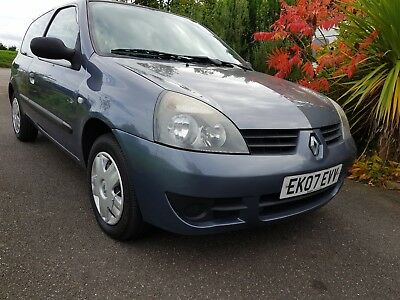 Renault Clio Campus 8V 3Dr 2007 07 Reg Jan 18 Mot With History Cheap & Cheerful