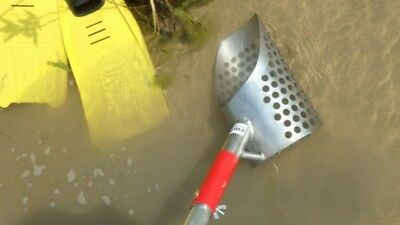 Medium Sand Scoop 150 + Handle Stainless Steel Treasure Hunting Metal Detecting