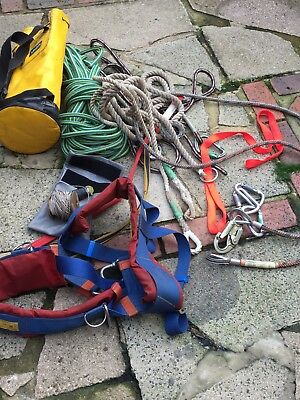 Tree Surgeon Harness ropes carabiners strops etc.