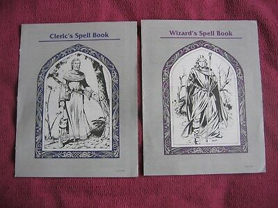 Two Advanced Dungeons & Dragons Spell Books -  Cleric's 1904 & Wizard's 1905