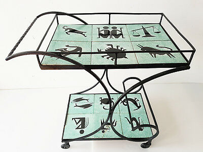 Table 50's Gueridon Desserte Servante Bar Zodiac 1950 Vintage Rockabilly 50S