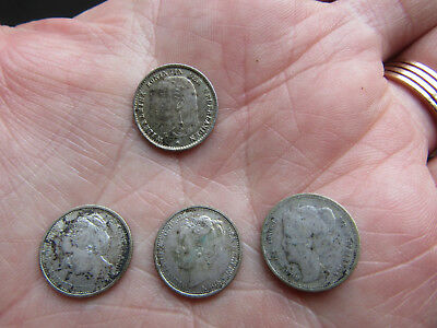NETHERLANDS  Silver 10 CENTS  1897 High grade + KEY DATES 1901, 1904, 1905,