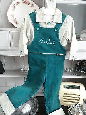 vintage child's dungarees and shirt suit