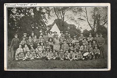 Sherwood Foresters Boy Scouts - printed postcard