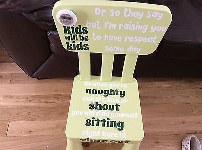 Time Out Chair Naughty Step Bad Behaviour Aid Chair