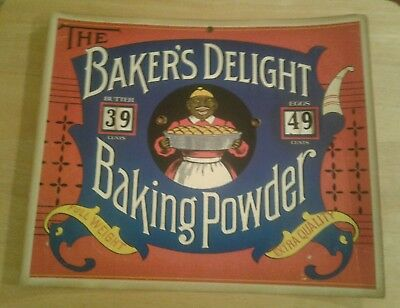Baker's Delight Baking Powder Sign Advertising Dial Prices Sign