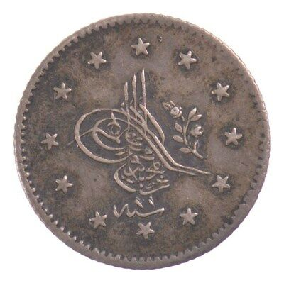 AH1255 Turkey Ottoman Empire Silver Piastre *4794