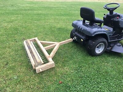 Spike Lawn Aerator 1.06m Hand Made Tow-Behind for Garden Tractor