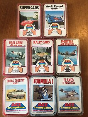 Vintage Lot Of Top Trumps And ACE Trump Cards, All Complete Sets