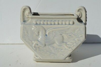 Fantastic Art Deco Ceramic Pottery Flying Horse 2 Handle Vase