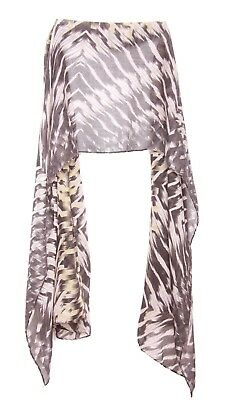 Anchor Grey Ladies Beige Abstract Design Scatter Print Scarf Unique (S7)