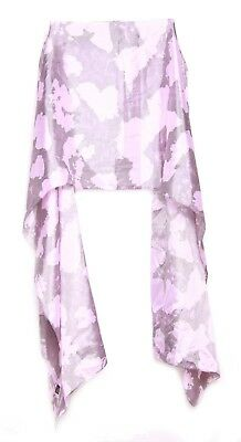 Anchor Grey/ Periwinkle Purple Abstract Pattern Modern Minimalist Scarf(S8)
