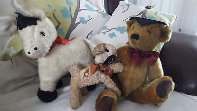 Chad Valley donkey and a limited edition past times bear