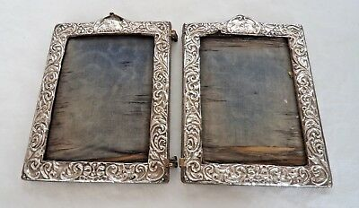 Antique Edwardian 1903 Sterling / Solid Silver Mounted Photograph Frames