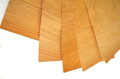 5 x English OAK VENEER Sheets - Size A4 - PACK OF 5 - 297x210mm