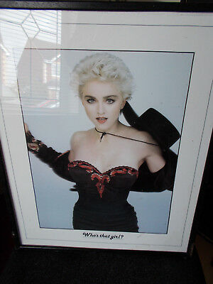 MADONNA - Who's that girl? Framed picture - 1980's collectable