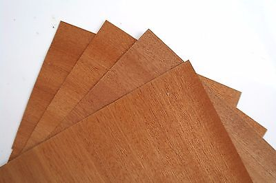 4 x MAHOGANY VENEER Sheets - Size A5 - PACK OF 4 - 148x210mm