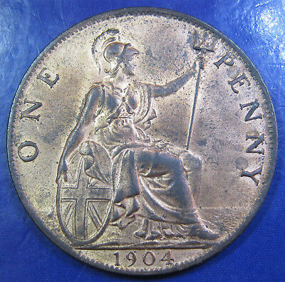 1904 1d Edward VII Penny - tricky date in an extremely high grade
