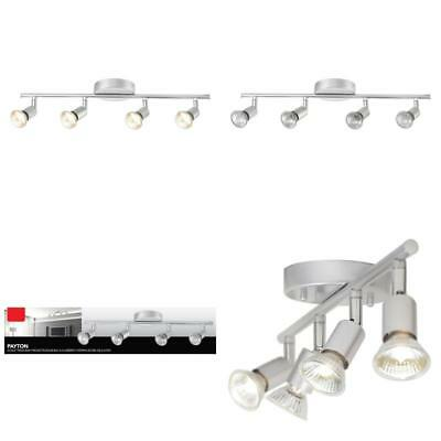 Adjule Track Lighting Kit Fixture Matte Silver Dimmable 4 Light Home Ceiling