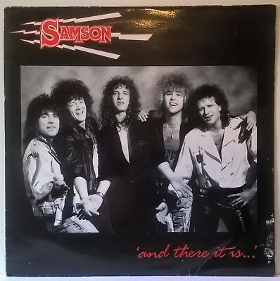 """Samson - And There It Is - 1988 Uk 12"""" 5 Track Ep On Razor Records - Excellent"""