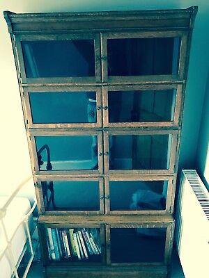 5 Tier Stacking Antique Barristers Bookcase - Good condition