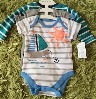 BNWT Pack Of 3 Baby Boy Vests, 0-3 Months.
