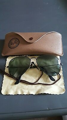 vintage original ray ban aviators in case