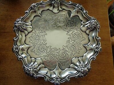 Magnificent Antique English Salver 1836, Barnard Brothers