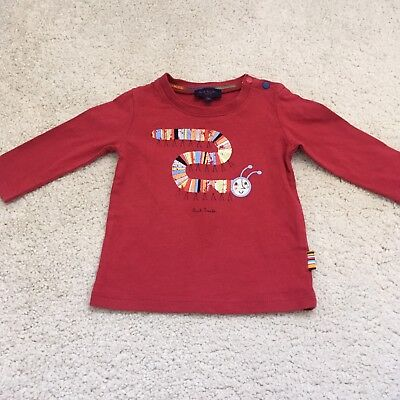 Baby Boys Paul Smith T Shirt Age 0-3 Months designer top