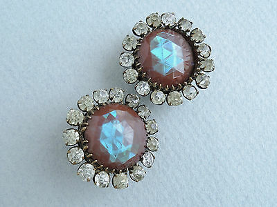 Matching Pair of Large Saphiret Buttons c1910
