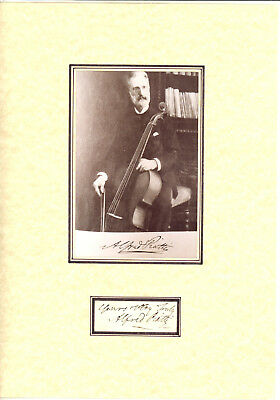 Cellists- ALFRED PIATTI  orig. signed & picture