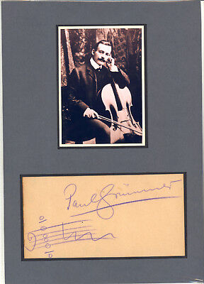 Cellists - PAUL GRÜMMER AMQ  orig. signed & picture