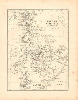1868  Antique Map - Egypt, Abyssinia And East Equatorial Africa