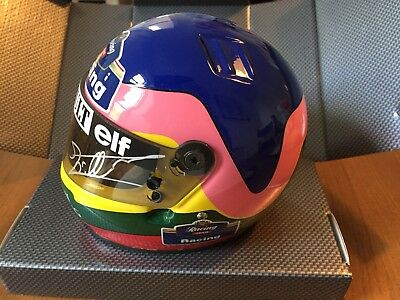 Jacques Villeneuve Signed 1/2 Size Replica Helmet Of Nurburgring Win In 1996