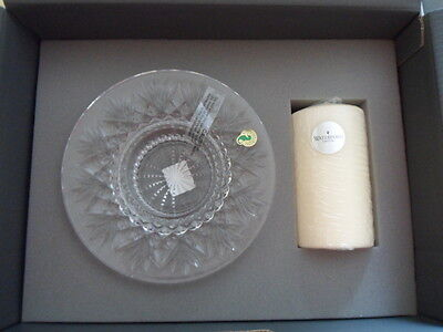 Waterford Crystal Bethany pillar candleholder centrepiece 102794 8inch diameter