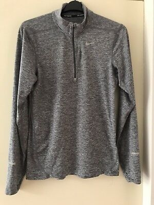 Nike Dri-fit long sleeve men's grey running top, size S, excellent condition