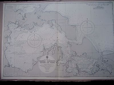 "1967 CUBA North Coast BAHIAS CABONICO LIVISA & NIPE Sea MAP Chart 28"" x 41"" C26"
