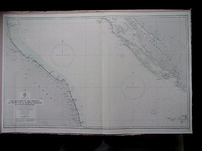 "1971 ITALY to YUGOSLAVIA - Adriatic Sea Admiralty Chart MAP 28"" x 46"" C15"
