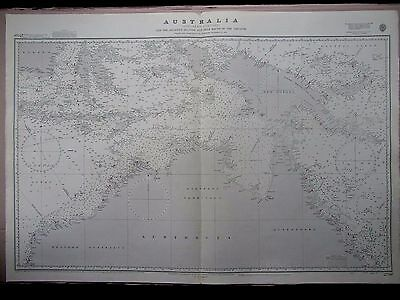 "1970 North AUSTRALIA & South ASIA Admiralty Nautical Sea MAP CHART 28"" x 41"" B36"