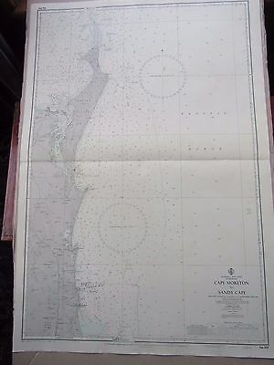 "1970 AUSTRALIA East Coast QUEENSLAND - Navigation Sea MAP CHART 28"" x 41"" B42"