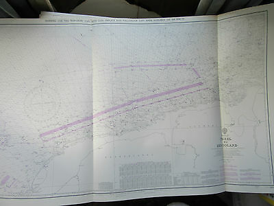 "1979 TEXEL to HELGOLAND Netherlands Germany - North Sea MAP Chart 28"" x 48"""