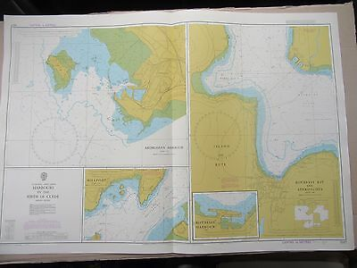 "1980 HARBOURS in FIRTH of CLYDE Navigational Sea Chart Map 28"" x 41"" B52"