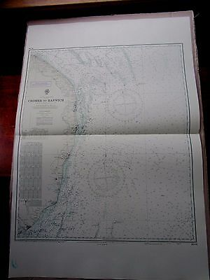 "1972 CROMER to HARWICH Norfolk Suffolk Coast - SEA MAP Chart 28"" x 41"" A41"