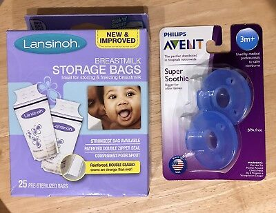 Lansinoh Breastmilk Storage Bags 25 Count BPA Free and BPS Free - New & Sealed