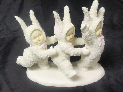 Dept. 56 Snowbunnies 1994 Three Dancing In A Row Figurine