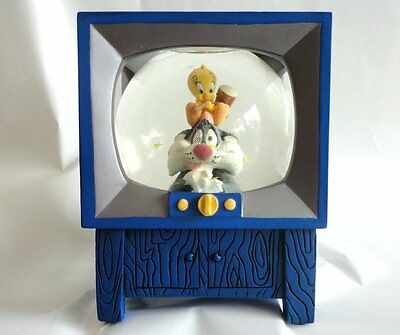 RARE SYLVESTER & TWEETY  TV Snowglobe Warner Brothers 1999 NM Condition