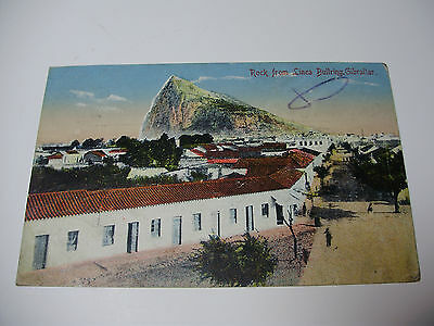 Lot02v -1915 ROCK of GIBRALTAR from LINEA BULLRING Postcard