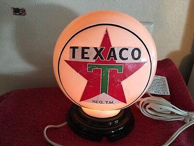 Texaco Gas Pump Globe Service Station Night Light Table Lamp